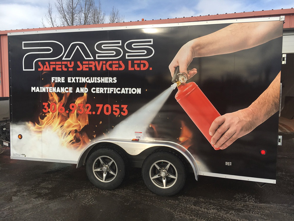 Pass Safety Trailer Wrap