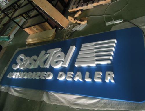 Sasktel 3D Signage