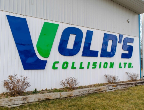 Vold's Collision Pin Signage