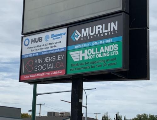 Kindersley Chamber Downtown Signage
